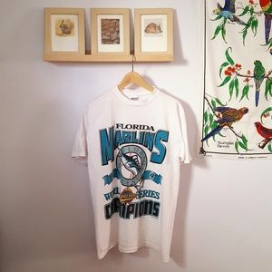 Vintage 1990s Florida Marlins World Series T-Shirt